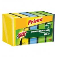Gąbka do zmywania PRIMA Maxi, uniwersalna, 5szt., mix kolorów, Akcesoria do sprzątania, Artykuły higieniczne i dozowniki