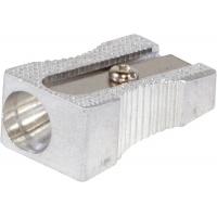 Temperówka DONAU, aluminiowa, pojedyncza, blister - 3szt., Temperówki, Artykuły do pisania i korygowania