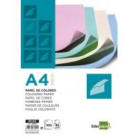 Papier kolorowy LIDERPAPEL, 4x pastelowy, 100 arkuszy, mix kolorów, Papiery specjalne, Papier i etykiety