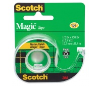 Self-adhesive Tape Scotch® Magic™ (104), matt, with dispenser, 13mm, 11. 4m