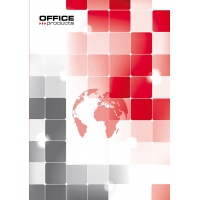 Brulion OFFICE PRODUCTS, A4, w kratkę, 96 kart., 70gsm, Bruliony, Zeszyty i bloki