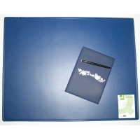 Podkładka na biurko Q-CONNECT, 63x50cm, niebieska, Podkładki na biurko, Wyposażenie biura