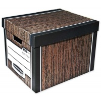 Bankers Box WOODGRAIN - pudło na archiwa - FastFold, op. 2 szt., Pudła archiwizacyjne, Archiwizacja dokumentów