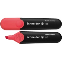 Zakreślacz SCHNEIDER Job, 1-5 mm, czerwony, Textmarkery, Artykuły do pisania i korygowania