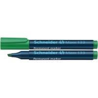 Marker permanentny SCHNEIDER Maxx 133, ścięty, 1-4mm, zielony, Markery, Artykuły do pisania i korygowania