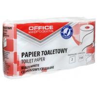 Papier toaletowy celulozowy OFFICE PRODUCTS, 2-warstwowy, 150 listków, 15m, 8szt., biały, Papiery toaletowe i dozowniki, Artykuły higieniczne i dozowniki