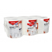 Ręczniki w roli celulozowe OFFICE PRODUCTS Maxi, 2-warstwowe, 120m, 6szt., białe, Ręczniki papierowe i dozowniki, Artykuły higieniczne i dozowniki
