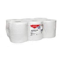 Ręczniki w roli makulaturowe OFFICE PRODUCTS Maxi, 2-warstwowe, 120m, 6szt., białe, Ręczniki papierowe i dozowniki, Artykuły higieniczne i dozowniki