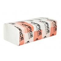 Ręczniki składane ZZ celulozowe OFFICE PRODUCTS, 2-warstwowe, 3000 listków, 20szt., białe, Ręczniki papierowe i dozowniki, Artykuły higieniczne i dozowniki