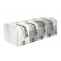Ręczniki składane ZZ makulaturowe OFFICE PRODUCTS, 1-warstwowe, 4000 listków, 20szt., białe, Ręczniki papierowe i dozowniki, Artykuły higieniczne i dozowniki