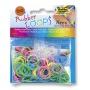 Gumki RUBBER LOOPS Neon, świecące w ciemności, 100szt., mix kolorów