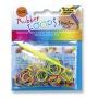 Gumki RUBBER LOOPS, kolorowe paski, 100szt., mix kolorów