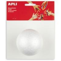 Kula styropianowa APLI, średnica 80mm, 1 szt., biała