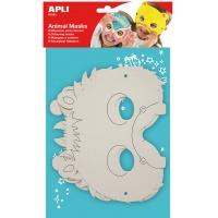 Maski do kolorowania APLI, 6 szt, białe, Produkty kreatywne, Szkoła 2015