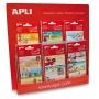 Etykiety szkolne APLI, small world, 60 ark., mix wzorów, Produkty kreatywne, Szkoła 2015
