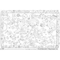 Kolorowanka podłogowa XXL MONUMI, 120x80cm, dla malucha zabawa, Produkty kreatywne, Szkoła 2015