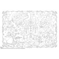 Kolorowanka podłogowa XXL MONUMI, 120x80cm, księżniczki, Produkty kreatywne, Szkoła 2015