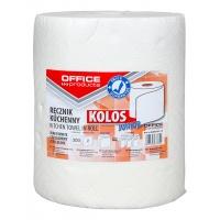 Ręczniki kuchenne celulozowe OFFICE PRODUCTS Kolos Junior, 2-warstwowe, 300 listków, 60m, białe, Ręczniki papierowe i dozowniki, Artykuły higieniczne i dozowniki