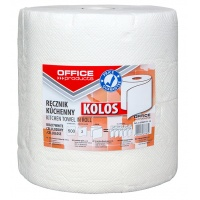 Ręczniki kuchenne celulozowe OFFICE PRODUCTS Kolos, 2-warstwowe, 500 listków, 100m, białe, Ręczniki papierowe i dozowniki, Artykuły higieniczne i dozowniki