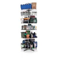 Regał obrotowy na segregatory MOLL Multifile, 5 półek, śr. 80cm, szary, Prezentery i sortery, Prezentacja