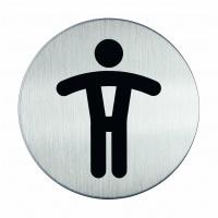 """Tabliczka Ø83 symbol """"WC MĘSKI"""", Tablice, Prezentacja"""