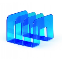 TREND stojak na katalogi, niebieski-przezroczysty, Pojemniki na katalogi, Archiwizacja dokumentów