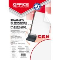 Okładki do bindowania OFFICE PRODUCTS, PVC, A4, 150mikr., 100szt., transparentne, Akcesoria do laminacji i bindowania, Prezentacja