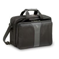 """Torba na laptopa WENGER Slim Legacy, 16"""", 400x310x180mm, czarna/szara, Torby, teczki i plecaki, Akcesoria komputerowe"""