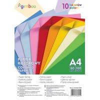 Papier kolorowy GIMBOO, A4, 100 arkuszy, 80gsm, 10 kolorów neonowych, Papiery specjalne, Papier i etykiety