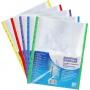 Koszulki na dokumenty DONAU, PP, A4, krystal, 40mikr., kolorowy brzeg - mix kolorów, 25szt., Koszulki i obwoluty, Archiwizacja dokumentów