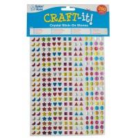 Samoprzylepne mini kryształy BAKER ROSS, 3D, 280szt., mix kolorów, Produkty kreatywne, Artykuły szkolne