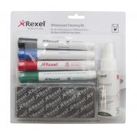 Zestaw do tablic NOBO, spray, gąbka niemagnetyczna oraz 4 markery, Bloki, magnesy, gąbki, spraye do tablic, Prezentacja