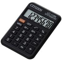 Kalkulator kieszonkowy CITIZEN LC-110N , 8-cyfrowy, 87x58mm, czarny, Kalkulatory, Urządzenia i maszyny biurowe