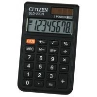 Kalkulator kieszonkowy CITIZEN SLD-200N, 8-cyfrowy, 98x60mm, czarny, Kalkulatory, Urządzenia i maszyny biurowe