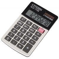 Kalkulator kieszonkowy CITIZEN SLD-7708, 8-cyfrowy, 112x68mm, szary, Kalkulatory, Urządzenia i maszyny biurowe