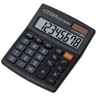 Kalkulator biurowy CITIZEN SDC-805BN, 8-cyfrowy, 124x102mm, czarny, Kalkulatory, Urządzenia i maszyny biurowe