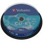 Płyta CD-R VERBATIM, 700MB, prędkość 52x, cake, 10szt., ekstra ochrona