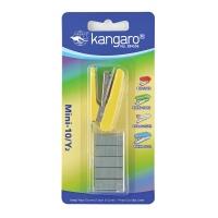 Zszywacz KANGARO Mini-10/Y2+zszywki, zszywa do 10 kartek, blister, żółty, Zszywacze, Drobne akcesoria biurowe