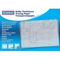 Kalka techniczna DONAU, A4, 10szt., 90gsm, transparentna, Kalki, Papier i etykiety
