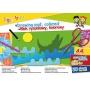Blok rysunkowy GIMBOO, A4, 20 kart., 70gsm, mix kolorów