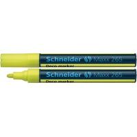 Marker kredowy SCHNEIDER Maxx 265 Deco, okrągły, 2-3mm, zawieszka, żółty, Markery, Artykuły do pisania i korygowania