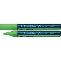 Marker kredowy SCHNEIDER Maxx 265 Deco, okrągły, 2-3mm, zawieszka, jasnozielony, Markery, Artykuły do pisania i korygowania