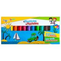 Plastelina GIMBOO, 12szt., mix kolorów, Produkty kreatywne, Artykuły szkolne
