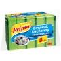 Gąbka do zmywania PRIMA, uniwersalna, 5szt., zielona