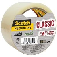 Taśma pakowa Scotch® Hot-melt (C5050S-T-EU) 50mm, 50m, transparentna, Taśmy pakowe, Koperty i akcesoria do wysyłek