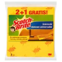 Ściereczki domowe SCOTCH BRITE™, 2+1szt., żółte, Akcesoria do sprzątania, Artykuły higieniczne i dozowniki