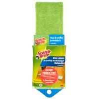 Mop płaski SCOTCH BRITE™, do podłóg drewnianych, zielony, Akcesoria do sprzątania, Artykuły higieniczne i dozowniki