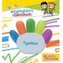 Zakreślacz GIMBOO,w kształcie rączki, blister, mix kolorów, Plastyka, Artykuły do pisania i korygowania