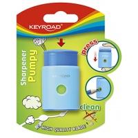 Temperówka KEYROAD Pumpy-Up, plastikowa, pojedyncza, blister, mix kolorów, Temperówki, Artykuły do pisania i korygowania