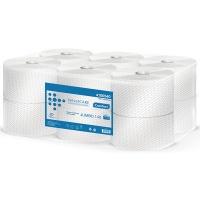 Papier toaletowy eco-white VELVET Profesional Jumbo, 2-warstwowy, 880 listków, 110m, 12szt., biały, Papiery toaletowe i dozowniki, Artykuły higieniczne i dozowniki